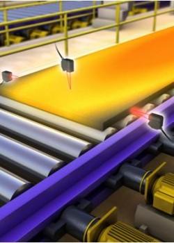 热钢锭的厚度和宽度测量