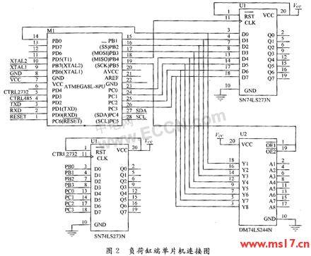 开关信号;在程序中设置单片机pb和pc端口低四位管脚