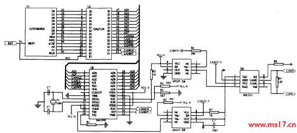 可以写出can总线收发器的输入/输出逻辑关系表达式如下