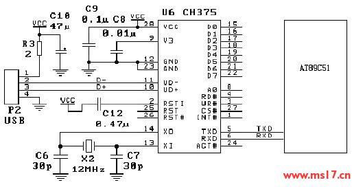 u盘的电路原理图